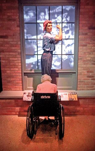 History Center: Rosie the Riveter display