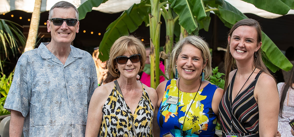 Jim Hudson, board member Donna Hudson, Zoo Director of Development Melana Mears and Katy Tufts. Pittsburgh Zoo & PPG Aquarium, Summer Safari. July 26, 2019.