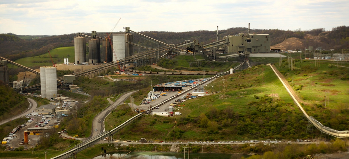 Consol Energy's expansive Bailey Complex Preparation Plant near Enon, Greene County, where coal from two of Consol's nearby mines is cleaned, sorted and loaded for transport.