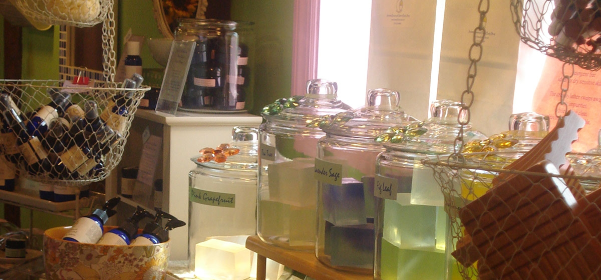 Artemis Botanicals Natural Organic Bath Shop is one of the delightful shopping destinations found at Quail Acres.