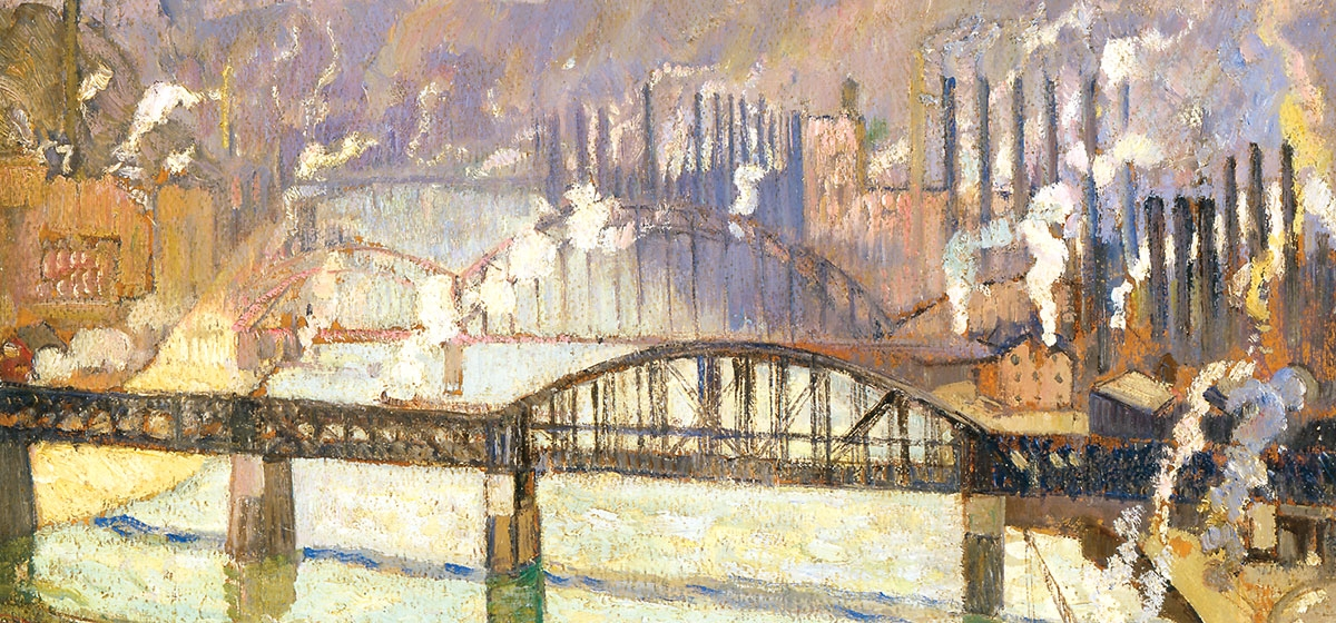 "Hayley Lever (1876-1958), ""Allegheny River,"" c. 1923, Westmoreland Museum of American Art. Lever juried exhibitions for the Associated Artists of Pittsburgh in the 1920s."