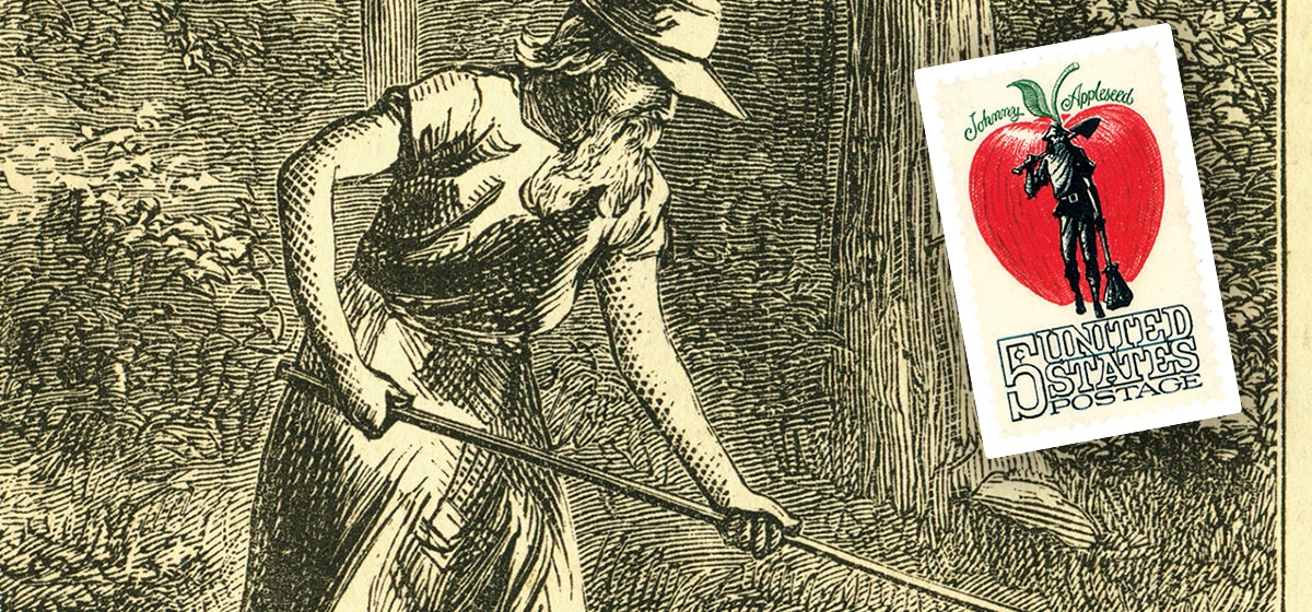 Johnny Appleseed was a wandering ascetic, whose orchards helped Americans move west.