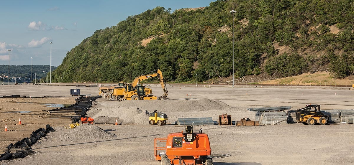 "Construction for Shell's ethane cracker plant is underway in Beaver County. The plant, which is expected to lead to some 600 full-time jobs following the initial construction, will ""crack"" chemicals from the region's ""wet"" natural gas for use in a variety of industries."