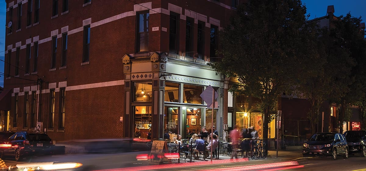 In the past 10 years, more than a dozen new restaurants have cropped up on Butler Street alone, keeping Lawrenceville top-of-mind as a foodie hotspot. Chef/owner Dominic Branduzzi opened Piccolo Forno there—featuring Italian fare and alfresco dining—ahead of the curve in 2005. In 2015, he added its popular annex bar, Grapperia.