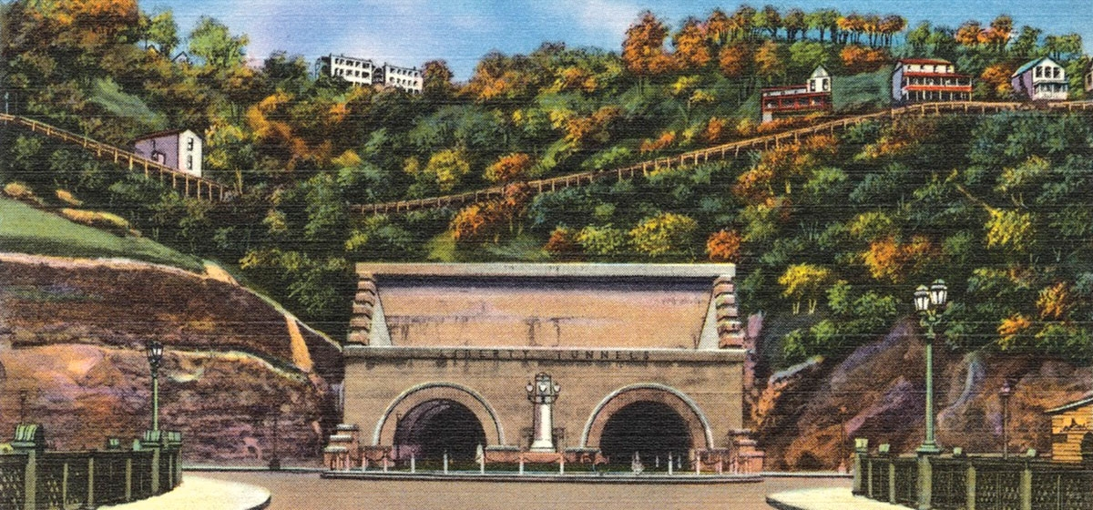 Long after their completion, the Liberty Tunnels were considered a wonder and a Pittsburgh landmark, as shown in the variety of vintage postcards from the 1930s and '40s that can be found bearing the tubes' image.
