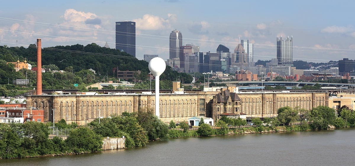 Western Penitentiary today, seen from the McKees Rocks Bridge.