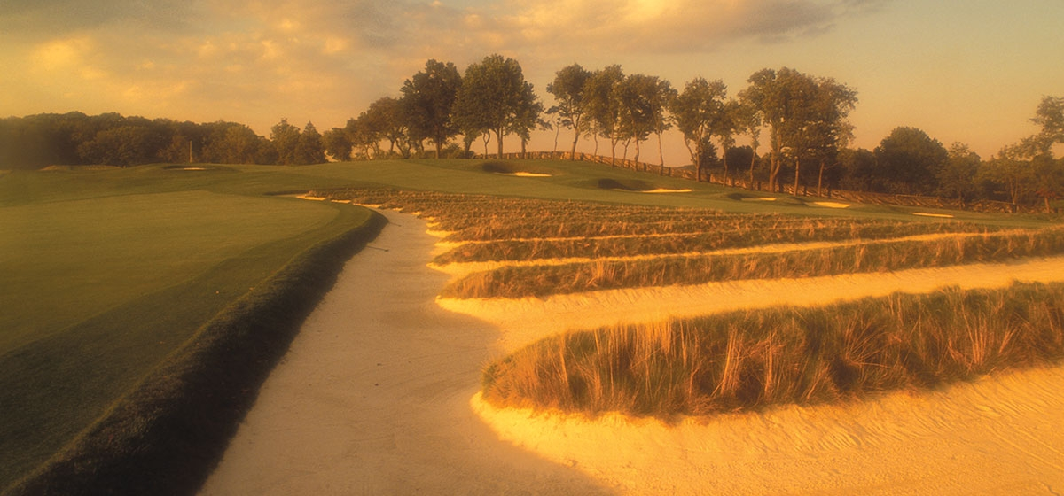"The ""church pews,"" as they are known, are an icon of Oakmont Country Club's golf course."