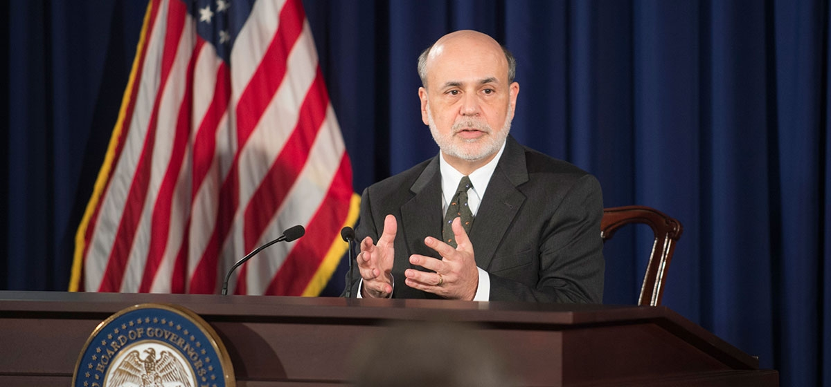 Chairman Ben S. Bernanke during the question-and-answer portion of the press conference on June 19, 2013. The event followed the June 18-19 meeting of the Federal Open Market Committee.