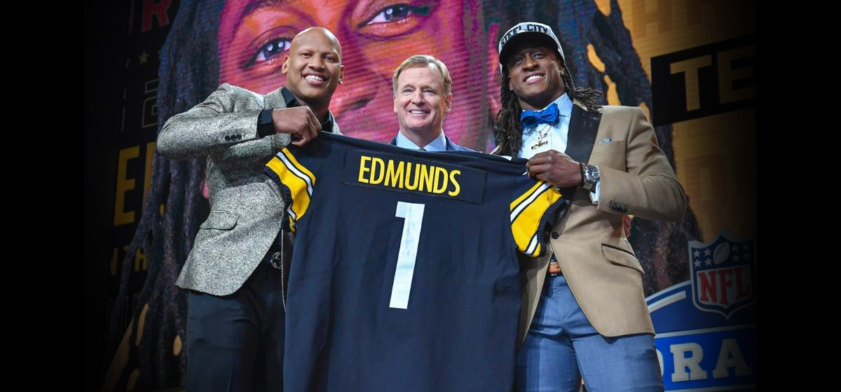 Ryan Shazier, Roger Goodell and Terrell Edmunds