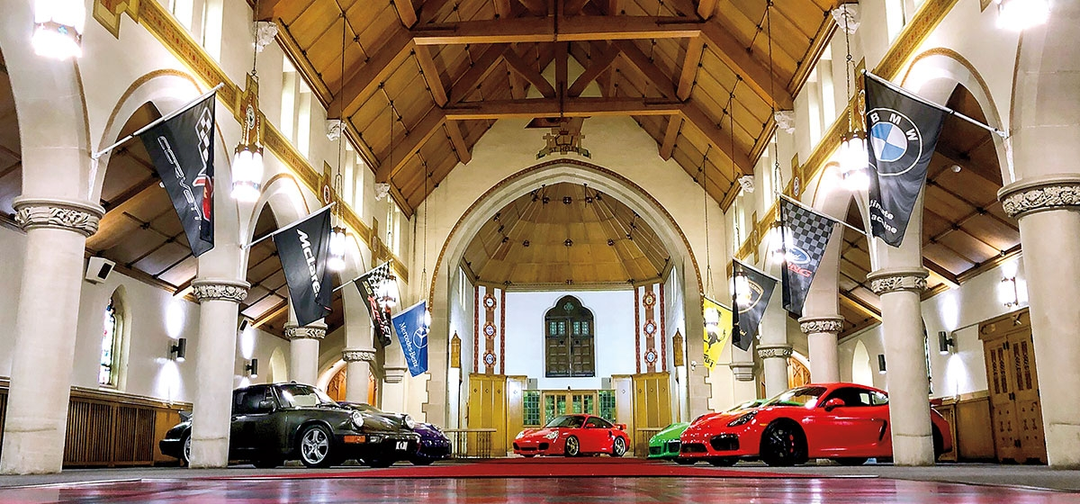 The Diocese of Pittsburgh sold St.Helen's Catholic Church to new owners who have transformed it into a place for car lovers to congregate and store their prized automobiles.