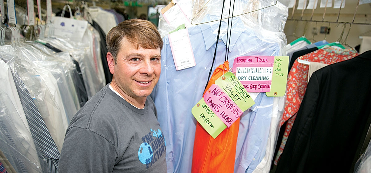Owned and run by Jerry Montesano, Shadyside Valet on Highland Avenue goes beyond drop-off dry cleaning by offering pick-ups, deliveries, laundering, mending, tailoring and shoe-repair service—to performers, movie stars and the rest of us.