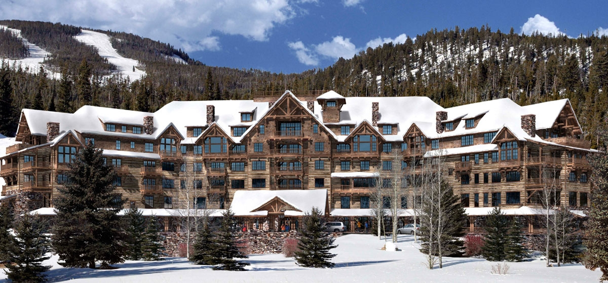 An artist's rendering of the Lodge at Spanish Peaks, which is under construction and scheduled for completion by the end of 2010.