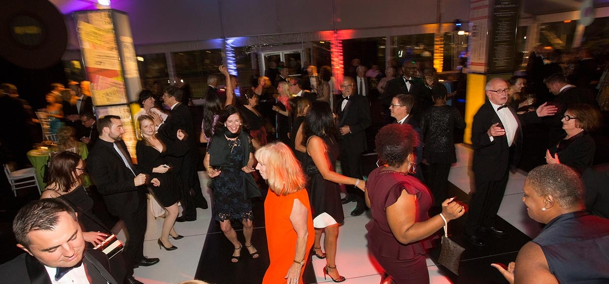 Guests enjoyed post-dinner dancing to DJ Selecta and a dessert buffet reception in the Gala Tent. Pittsburgh Cultural Trust's Rock 'n' Soul Gala Remembering The Stanley Theatre. September 8, 2017.