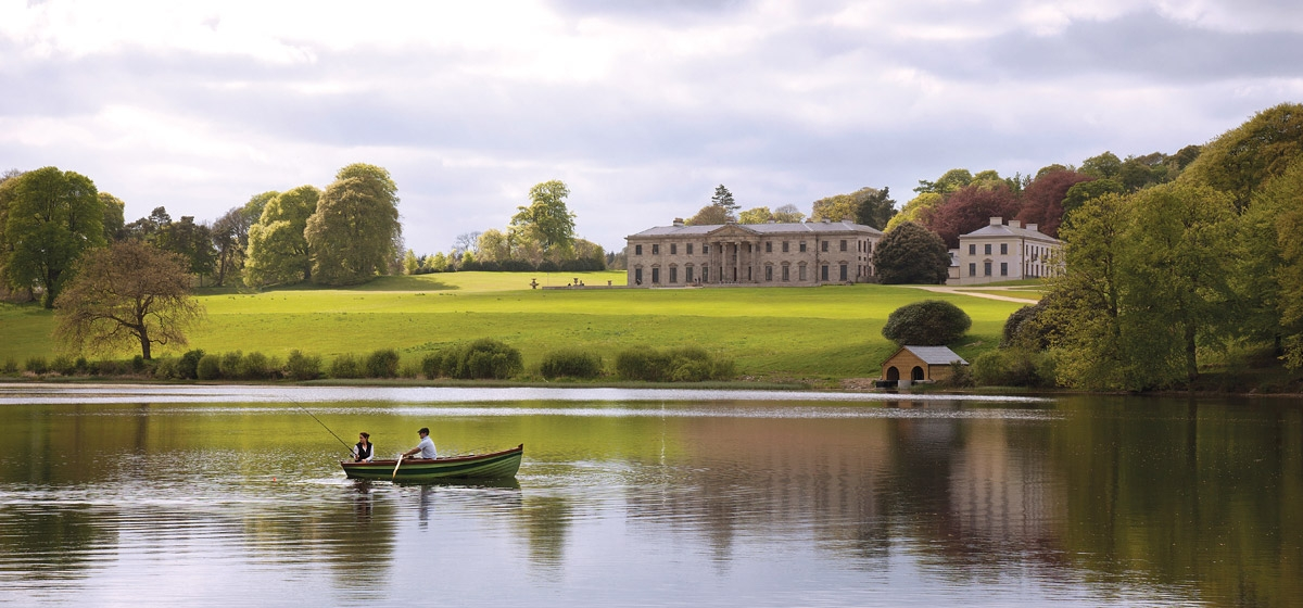 Opened in 2011, the five-star Ballyfin Demesne near Dublin boasts 614 acres of privacy, including a 28-acre lake for boating and fishing.