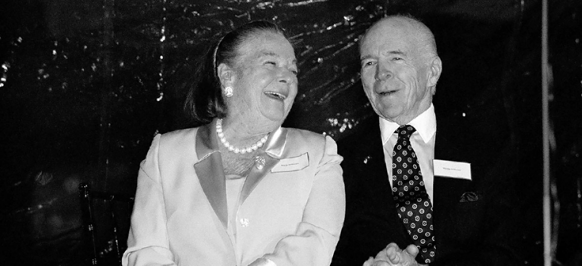 Henry Hillman and Elsie Hillman at the Hillman Cancer Center opening (2002)