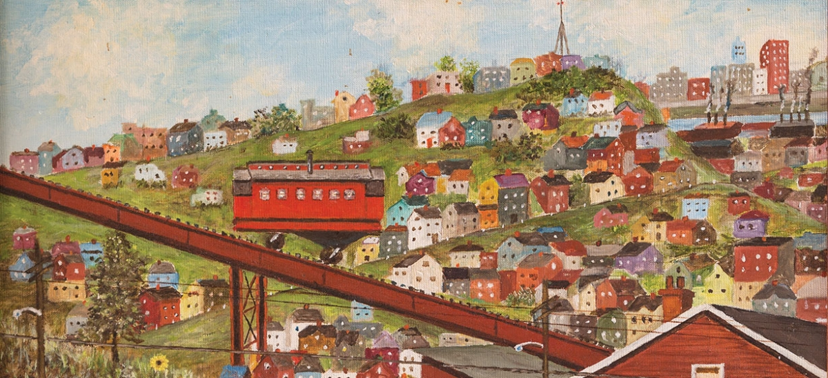 "A self-described ""primitive artist,"" Lee Dittley never had an art lesson, but put his innate sense of color and composition to use making detailed landscape paintings. Most often, the scenes depicted his beloved South Side neighborhood."