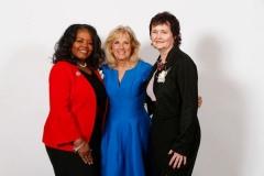 LaJuana-Fuller-YWCA-Board-President-Dr.-Biden-Magdeline-Jensen-President-YWCA