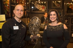Live-Auction-Emcee-and-WTAE-Anchor-Michelle-Wright-with-Mike-Faix-and-a-Eurasian-Eagle-Owl-