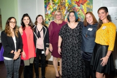 Maker-Challenge-Participants_Jessica-Botzan-Sarah-Cohen-Lindsay-Huff-Cheryl-Tracy-National-Aviary-Exec.-Director-April-Minech-Allison-Glancey-Lindsay-Wright_Photo-by-Rick-Armstrong
