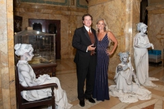 Stan-and-Ruth-Geier-at-PVGP-Gala-with-Living-Statues-by-Marsha-Green